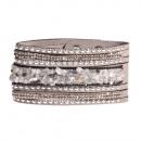 grossiste Bijoux & Montres: Bracelet en pierre polie, gris