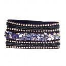 grossiste Bijoux & Montres: Bracelet en pierre polie, bleu