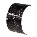Großhandel Schmuck & Uhren: Helligkeit  Gummiarmband, schwarz