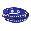 grossiste Bijoux & Montres: Aisa points bracelet, bleu