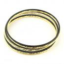 groothandel Sieraden & horloges: Zwarte gouden armband set
