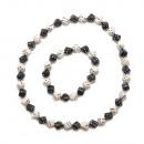 Dice Collier & Bracelet Set, Noir