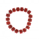 Marble Beads armband in rood