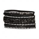 grossiste Bijoux & Montres: noir bracelet en pierre polie