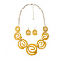 grossiste Bijoux & Montres: Époxy, collier galaxie jaune serti