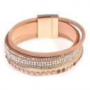 grossiste Bijoux & Montres: Bracelet de perles  avec la lumière, beige