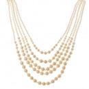 Cinque fila collana di perle coltivazione