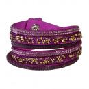 Großhandel Schmuck & Uhren: Herbst-Glamour Armbänder, lila