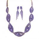 Ensemble glamour décontracté bleu royal collier