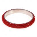 grossiste Bijoux & Montres: rouleau bracelet strass, rouge