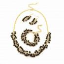 grossiste Bijoux & Montres: Set perles brillantes, noir