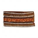 grossiste Bijoux & Montres: Bracelet en pierre polie, brun
