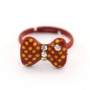groothandel Sieraden & horloges:Kinderen boog ring, rood