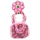 groothandel Sieraden & horloges: Butterfly zakje:  ketting set met haar clips +