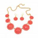 groothandel Sieraden & horloges:Coral daisy ketting set