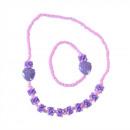 Collier de fraises serti d'un bracelet, violet