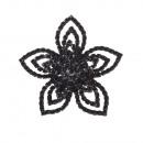 groothandel Sieraden & horloges:Zwarte bloem ring