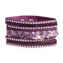 grossiste Bijoux & Montres: bracelets en pierre polie, violet