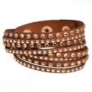 grossiste Bijoux & Montres: glamour bracelet torsadé, brune
