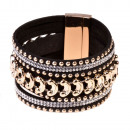 Gold dotted bracelet, black