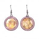 groothandel Sieraden & horloges:Bolda oorbellen, roze