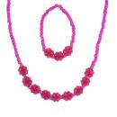 Les enfants bracelet collier rouge mis cloverleaf
