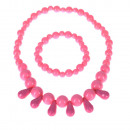 Drazsé children necklace set with bracelet, pink