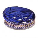grossiste Bijoux & Montres: Bracelet Strasszfonat, bleu