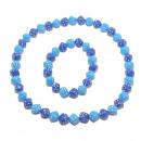 Dice Collier & Bracelet Set, Bleu