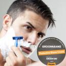Una barba de lujo sostenible crema de afeitar