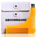 3 in 1 stencil boomerang comb for beard