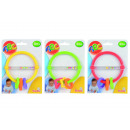wholesale Baby Toys: ABC rattle with  teething rings, assorted 3-fold