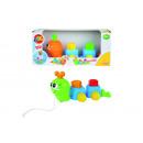 Großhandel Babyspielzeug: ABC Nachziehraupe, 2-fach sortiert