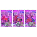 wholesale Make up: SLG Glitter Lip Gloss Set, assorted 3-fold