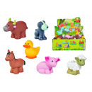 Soft farm animals, 6- times assorted