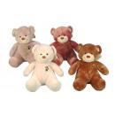 Nicotoy plush bear, 4- times assorted