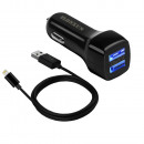 Car / Car Charger 2.1A with 1.2M Cable for Iphone