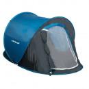 Aufstellzelt blau / schwarz - 255x155x95cm