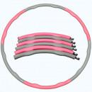 Großhandel Spielwaren: Hula-Hoop-Reifen pink / grau - Hula-Hoop-Reifen -