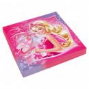 Papieren servetten  Barbie 33x33 cm 20 stuks
