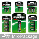 wholesale Batteries & Accumulators: Mix-Package: Camelion batteries Top15 in blister