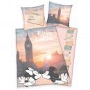grossiste Articles sous Licence: Mickey & Minnie London drap