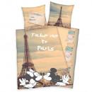 Mickey y Minnie París sábana