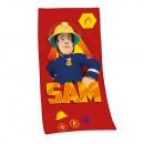 Großhandel Lizenzartikel: Feuerwehrmann Sam Velourstuch
