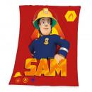 Großhandel Kissen & Decken: Feuerwehrmann Sam Fleece-Decke