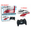 wholesale RC Toys: Helicopter  infrared 3 channel 2 col. assorted
