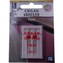 Orgelnaalden tweeling, 2 dubbele naalden 80 / 3.0