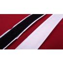 Klittenband, lusband, zwart zelfklevend 20 mm