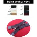 Rits Delrin 2-weg 6 mm - 80 cm