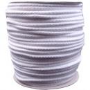 Cordon en coton 5mm - 100m, blanc